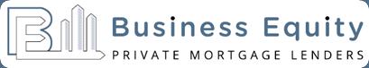 business equity logo over blue